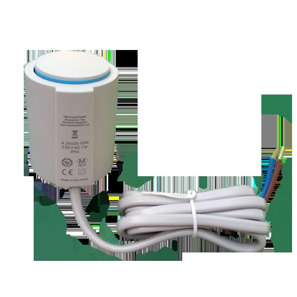 Möhlenhoff elektronikus termosztát fej on-off, 230 V, 1 m kábel