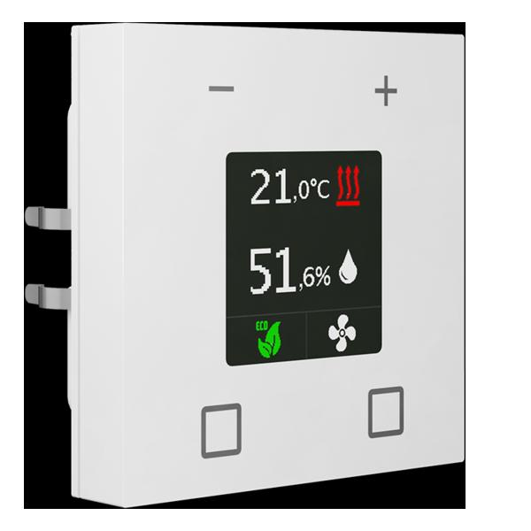 MDT Smart 55 szobahőmérséklet-szabályozó, tiszta fehér, fényes