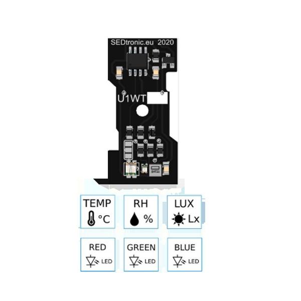 Unica 1-Wire érzékelőmodul (hő, pára, fény) - háttérvilágítással